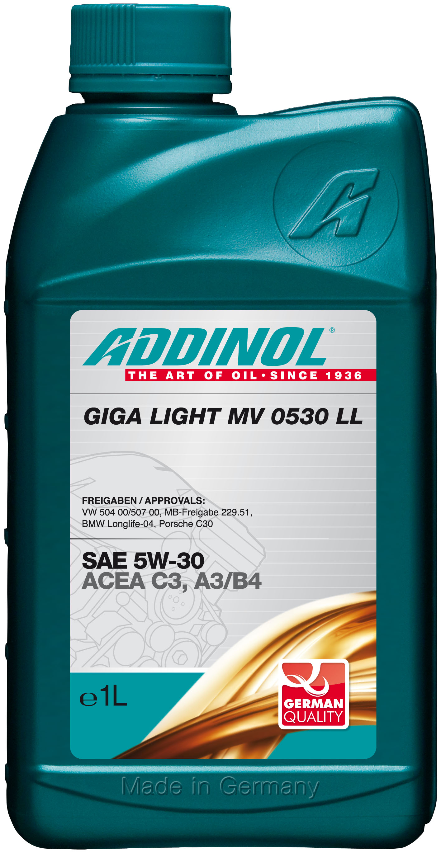 Купить запчасть ADDINOL - 4014766072573 Giga Light (Motorenol) MV 0530 LL 5W-30, 1л